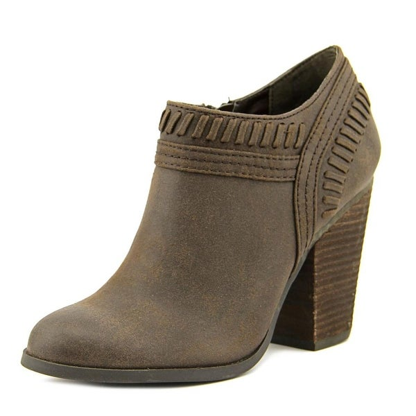Rollins Round Toe Leather Bootie