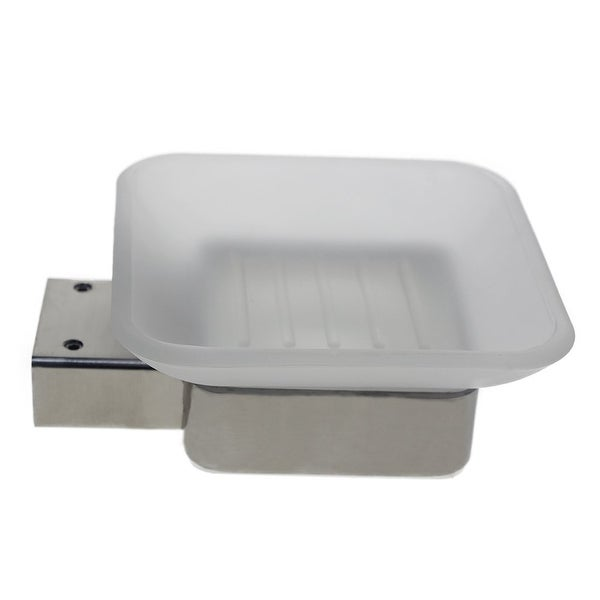 Wall Mounted Extremely Stylish Made from 304 Brushed Stainless Steel Easy to Install Water and Rust Proof QT Modern Bathroom Soap Dish