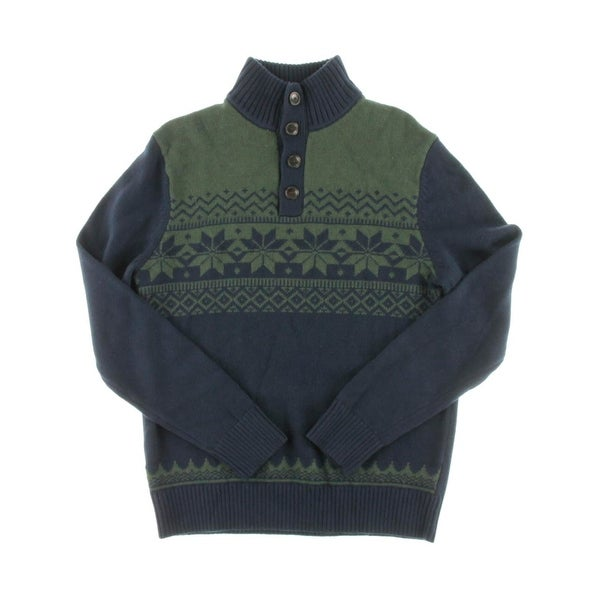 Tommy Hilfiger Mens Pullover Sweater Wool Blend Fair Isle