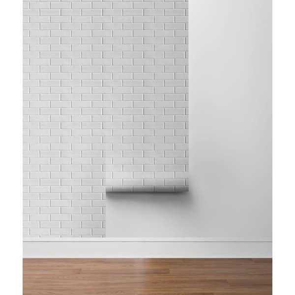 Sanger%2C Subway Tile 18%27 x 20.5%22 Peel %26 Stick Wallpaper Roll