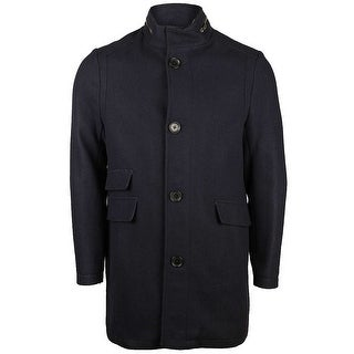 Kenneth Cole Mens Wool Blend Coat in Denim