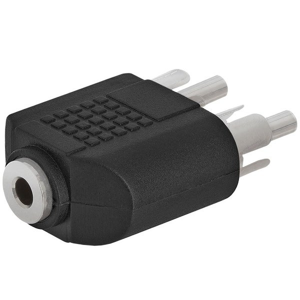 3.5mm Stereo Jack to 2xRCA Plug Adapter - Straight