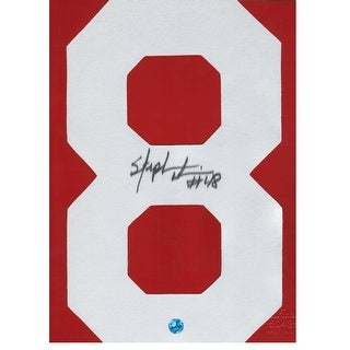 Stephen Davis Washington Redskins & Auburn Tigers Autographed White #8 This item is an autographed Jersey Number with