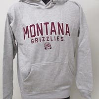 Montana Grizzlies Mens Size S Small Gray Hoodie