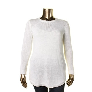 Lauren Ralph Lauren Womens Plus Knit Open Stitch Pullover Sweater - 1X
