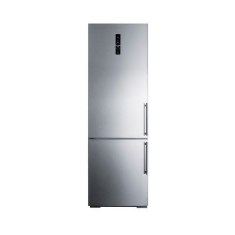 "Summit FFBF249IM 24"" Wide 11.6 Cu. Ft. Capacity Energy Star Certified Free Standing Refrigerator with ZeroZone Deli Drawer and"