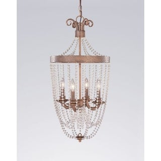 Classic Lighting 81024 Grace 4 Light Pendant with Crystal Accents