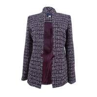 Tommy Hilfiger Women's Open-Front Tweed Blazer