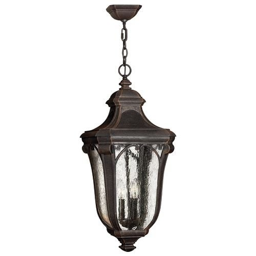 Hinkley Lighting H1312 3 Light Outdoor Lantern Pendant from the Trafalgar Collection