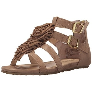 Kenneth Cole Reaction Girls Audra Struck Faux Suede T-Strap Sandals