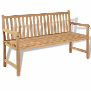 "vidaXL Garden Bench 59"" Teak - 59"" x 24.6"" x 35.4"""