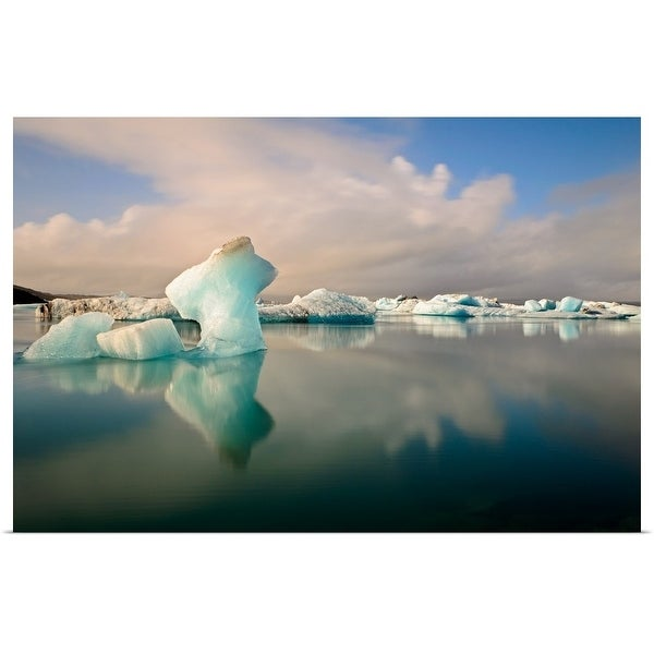 """""""Glaciers of Iceland."""" Poster Print"""
