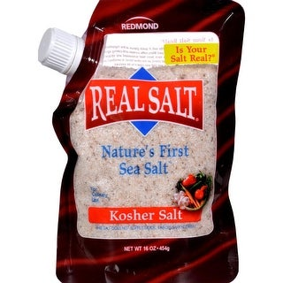 Real Salt - Gourmet Kosher Sea Salt ( 6 - 16 OZ)