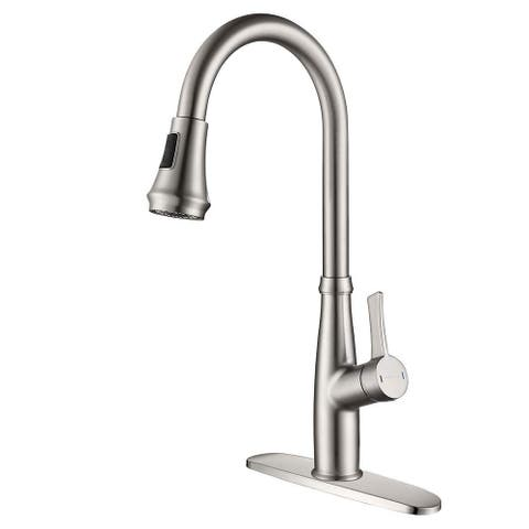 Pull Down Touch Bar Single Handle Kitchen Faucet with Side Spray