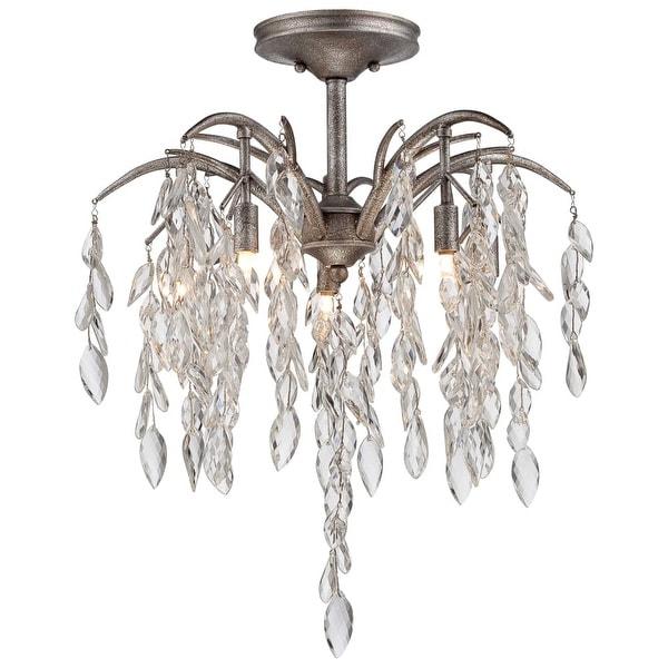 Metropolitan N6865-278 8-Light Semi-Flush Ceiling Fixture from the Bella Flora Collection - silver mist - n/a