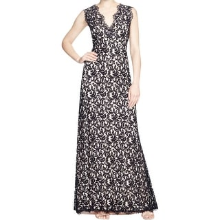 Tadashi Shoji Womens Evening Dress Lace Overlay Sleeveless