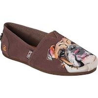 Skechers Women's BOBS Plush Paw-Fection Winston Alpargata Brown