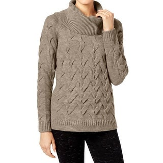 Calvin Klein NEW White Women's Small S Cable-Knit Cowl Neck ...