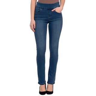 Lola Jeans Rebeccah-MB, High Rise Pull On Straight Leg With 4-Way Stretch (More options available)