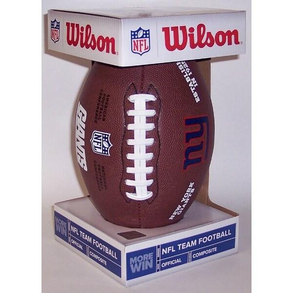 Wilson New York Giants Full Size Composite NFL Football F1748