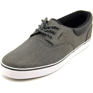 Circa Valeo SE Men Round Toe Canvas Black Fashion Sneakers