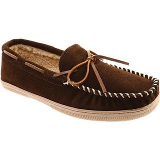 Portland Boot Company Men's Max Moccasin Slipper Chocolate Suede