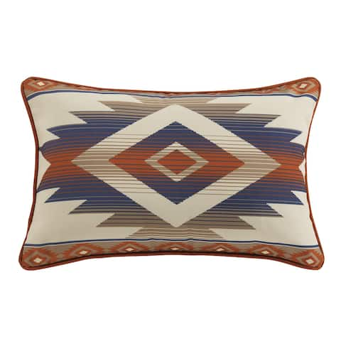 HiEnd Accents Blue Aztec Outdoor Pillow, 16x24