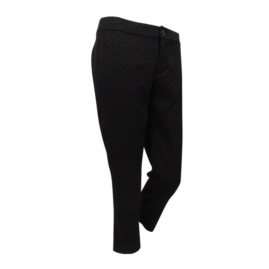 Tommy Hilfiger Womens Cropped Tapered Pants - Black