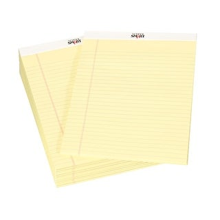 School Smart Perforated Letter Size Legal Pad, 50 Sheets Each, Canary, 12 Packs
