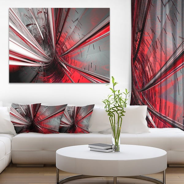 Fractal 3D Deep into Middle - Abstract Art Canvas Print. Opens flyout.