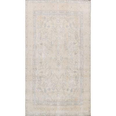 "Semi-antique Floral Traditional Tabriz Persian Area Rug Wool Handmade - 9'7"" x 12'8"""