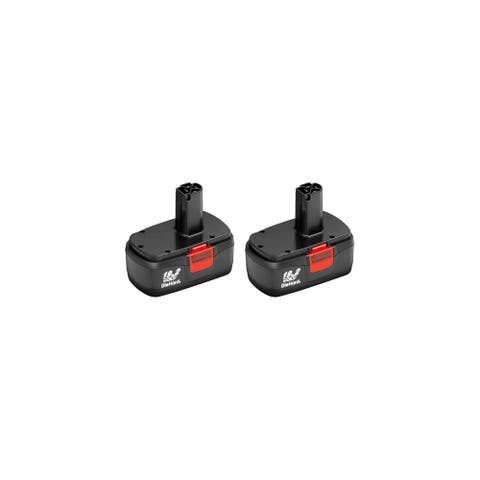 2 Pack Replacement for Craftsman 11375 DieHard C3 130279005 2000mAh Power Tool Battery