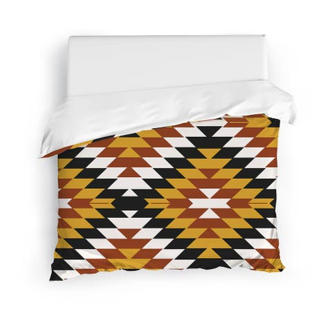 SAN PEDRO SIENNA Duvet Cover by Kavka Designs