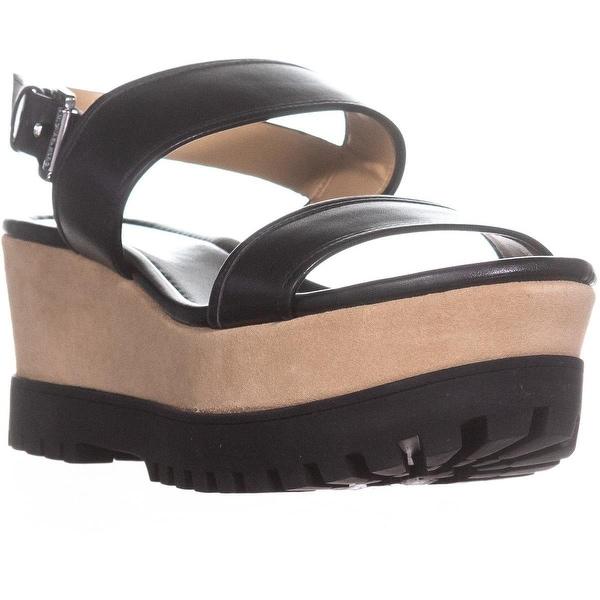 0fa41f56468 Shop MICHAEL Michael Kors Gillian Mid Wedge Platform Sandals, Black ...
