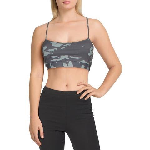 Monrow Womens Sports Bra Fitness Running - Olive - XS
