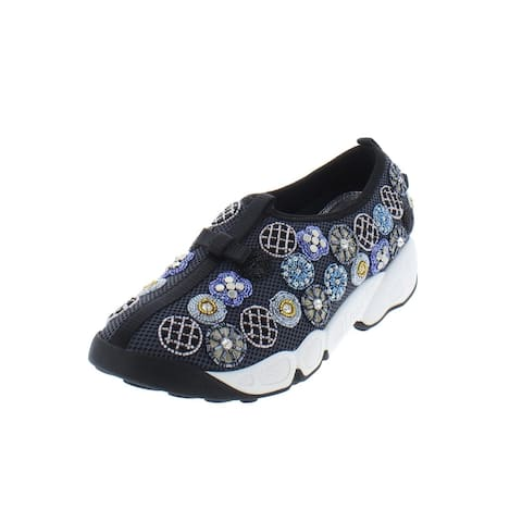 Dior Womens Fusion Fashion Sneakers Beaded Slip On
