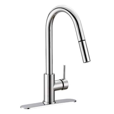 Jones Stephens 155926 Volos 1.8 GPM Single Hole Pull Down Kitchen Faucet