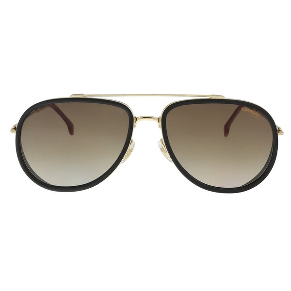 4d84db08262e Shop Carrera CARRERA 166/S 0Y11-HA Black/ Gold Aviator Sunglasses ...