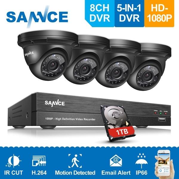 SANNCE 1080P HD 8ch 5-in-1 DVR Video CCTV Surveillance Camera System