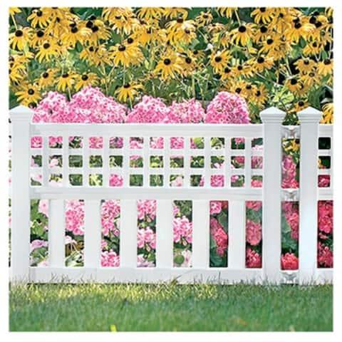 SuncastA GVF24 Grand ViewA¢ Resin Fence, White