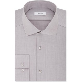 Calvin Klein Mens Dress Shirt Slim Fit Button-Down