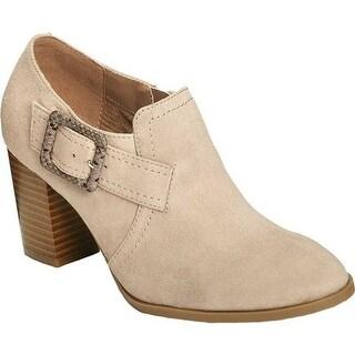A2 by Aerosoles Women's Wallflower Ankle Bootie Bone Faux Suede/Faux Leather