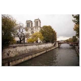 """""""Notre Dame de Paris from the Seine, Paris, France"""" Poster Print"""
