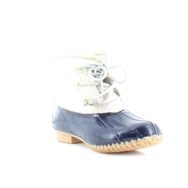 Jack Rogers Chloe Women's Boots Navy/Ivory - 9