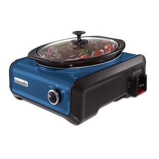 Crock-Pot SCCPMD3-BL Hook Up Connectable Slow Cooker 3.5-Quart Metallic Blue - Metallic Blue