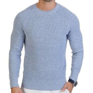 Nautica NEW Chrome Blue Mens Size 2XL Knit Textured Crewneck Sweater