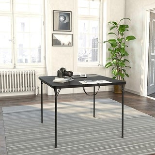 Link to COSCO XL 38.5 inch Black Resin Fold-in-Half Card Table Similar Items in Home Office Furniture