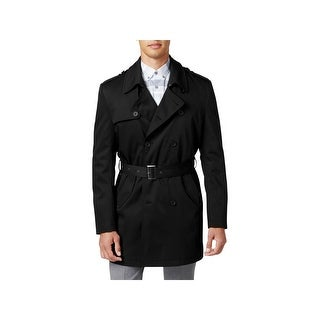 Calvin Klein Mens Trench Coat Extra Slim Fit Double Breasted - 42l