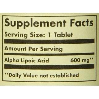 Solgar Alpha Lipoic Acid 600 Mg Tablets 50