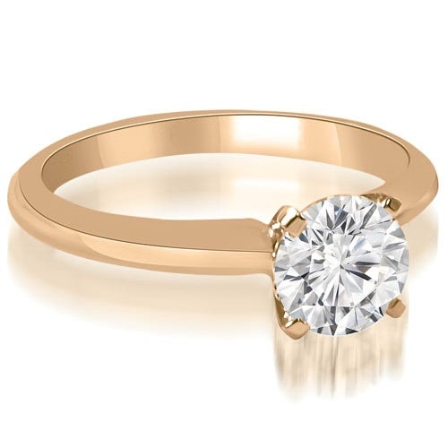 1.00 cttw. 14K Rose Gold Classic Solitaire 4-Prong Diamond Engagement Ring